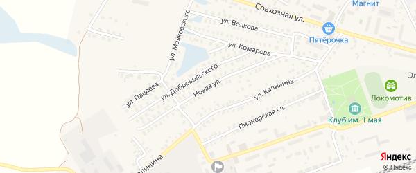 Новая улица на карте Унечи с номерами домов