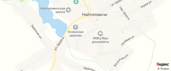 4-й Октябрьский переулок на карте села Найтоповичи с номерами домов