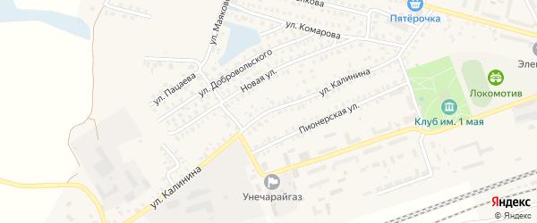 Улица Калинина на карте Унечи с номерами домов