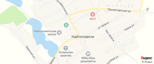 Октябрьская улица на карте села Найтоповичи с номерами домов