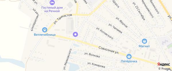 Переулок 2-й Луначарского на карте Унечи с номерами домов