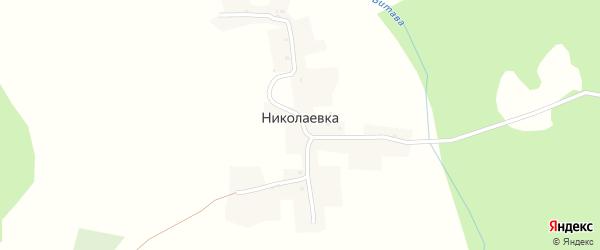 Пограничная улица на карте деревни Николаевки с номерами домов