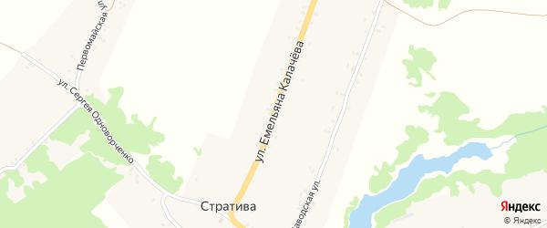 Улица Емельяна Колачева на карте села Стративы с номерами домов