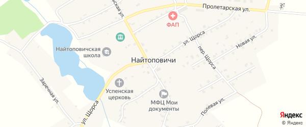 Радужная улица на карте села Найтоповичи с номерами домов