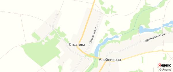 Карта села Стративы в Брянской области с улицами и номерами домов