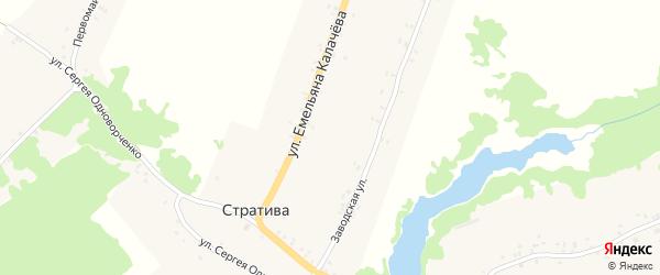 Первомайская улица на карте села Стративы с номерами домов