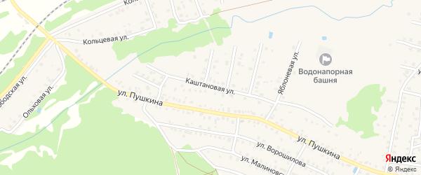 Каштановая улица на карте Унечи с номерами домов