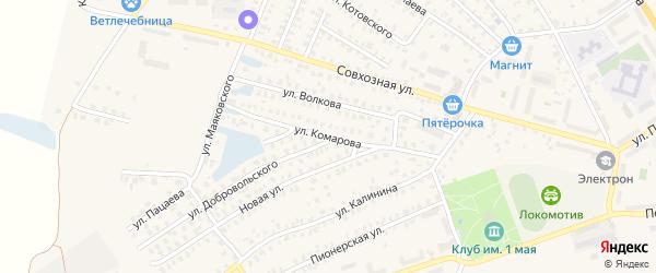 Улица Комарова на карте Унечи с номерами домов