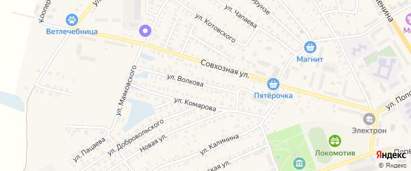 Улица Волкова на карте Унечи с номерами домов