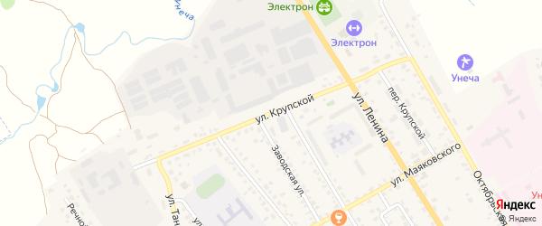 Улица Крупской на карте Унечи с номерами домов