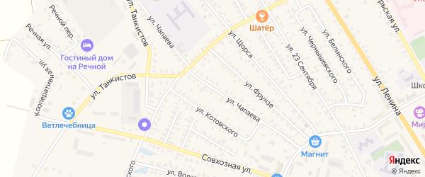 Улица Чапаева на карте Унечи с номерами домов