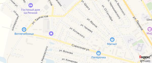 Улица Котовского на карте Унечи с номерами домов