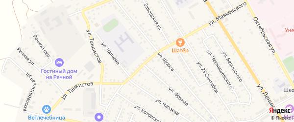 Улица Маяковского на карте Унечи с номерами домов