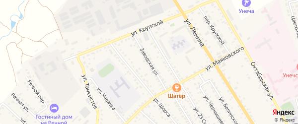 Заводская улица на карте Унечи с номерами домов