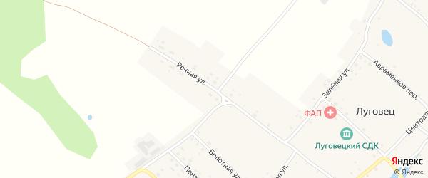 Речная улица на карте села Луговца с номерами домов