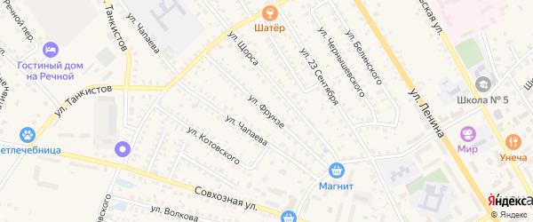 Улица Фрунзе на карте Унечи с номерами домов