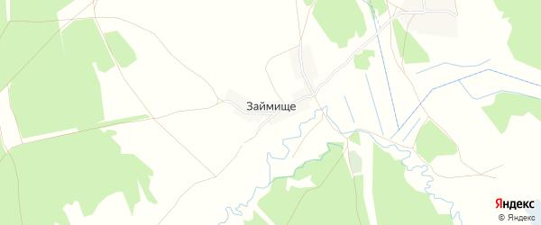 Карта деревни Займища в Брянской области с улицами и номерами домов