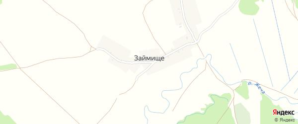 Заречная улица на карте деревни Займища с номерами домов