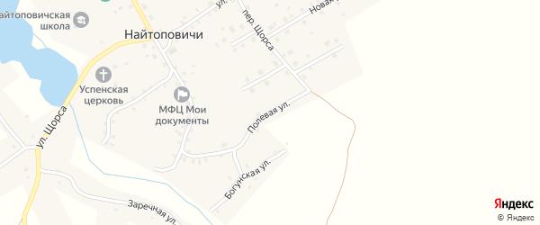Полевая улица на карте села Найтоповичи с номерами домов
