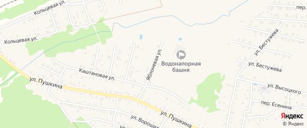 Яблоневая улица на карте Унечи с номерами домов