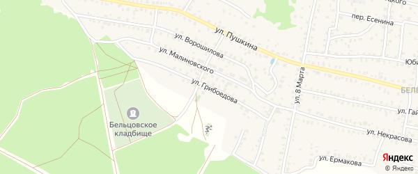 Улица Грибоедова на карте Унечи с номерами домов