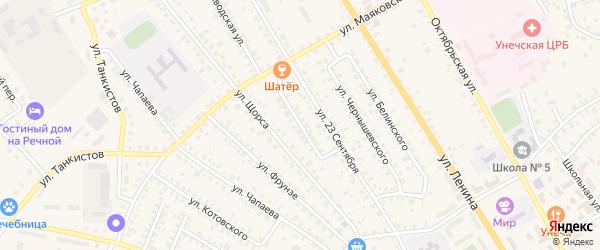 Улица Ани Морозовой на карте Унечи с номерами домов