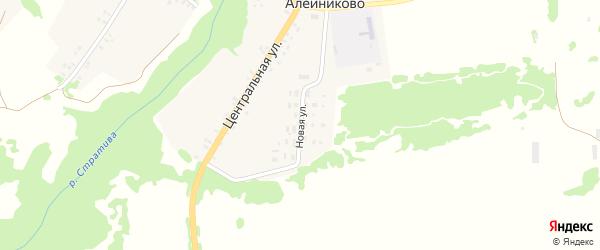 Новая улица на карте села Алейниково с номерами домов