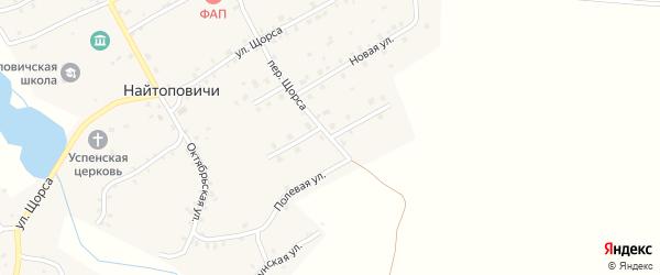 Улица Новоселов на карте села Найтоповичи с номерами домов
