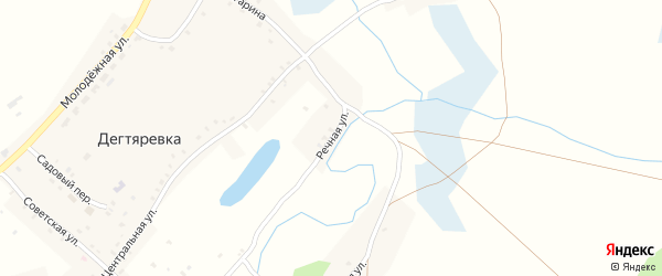 Речная улица на карте села Дегтяревки с номерами домов
