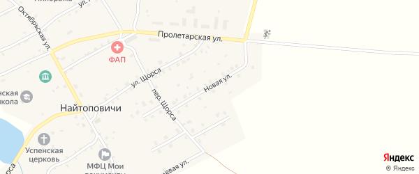 Новая улица на карте села Найтоповичи с номерами домов