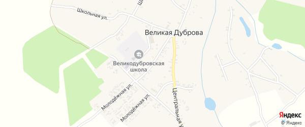 Советская улица на карте села Великая Дуброва с номерами домов