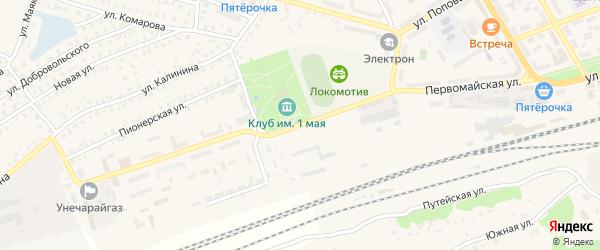 Первомайская улица на карте Унечи с номерами домов