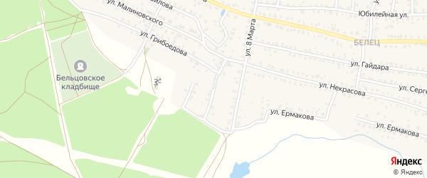 Улица Рокоссовского на карте Унечи с номерами домов
