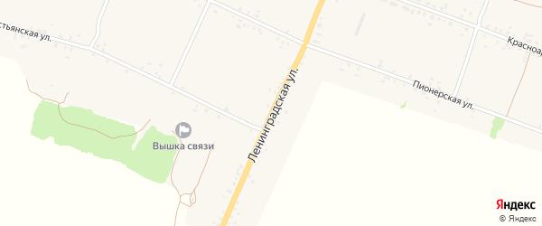 Ленинградская улица на карте села Воронка с номерами домов