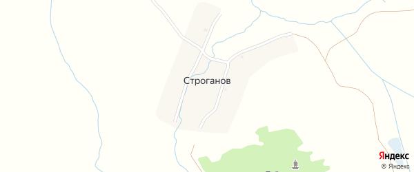 Улица Строгонова на карте поселка Строгонова с номерами домов