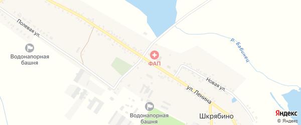 Улица Ленина на карте села Шкрябино с номерами домов