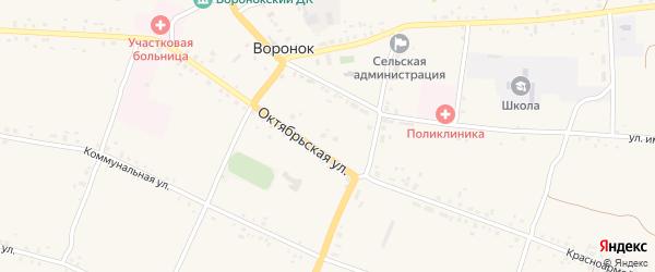 Улица имени Крупской на карте села Воронка с номерами домов