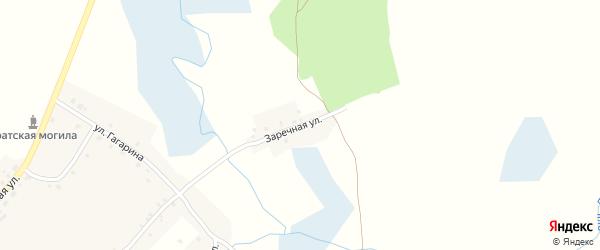 Заречная улица на карте села Дегтяревки с номерами домов