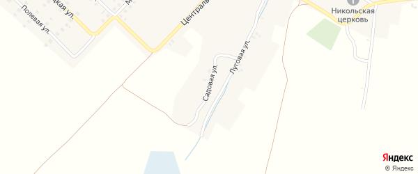 Садовая улица на карте села Луговца с номерами домов