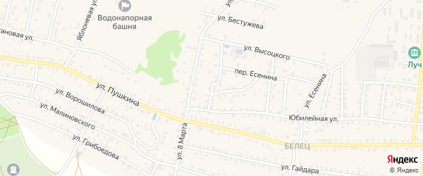 8-й Юбилейный переулок на карте Унечи с номерами домов