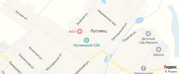 Крымская улица на карте села Луговца с номерами домов