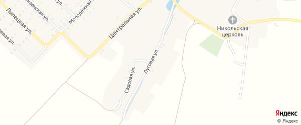 Луговая улица на карте села Луговца с номерами домов