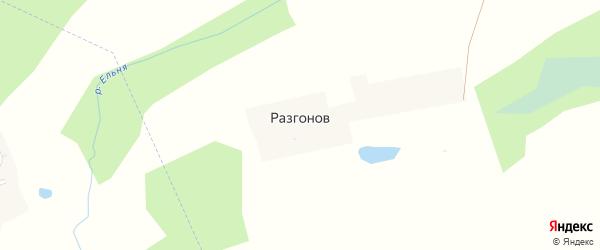 Лесная улица на карте поселка Разгонова с номерами домов