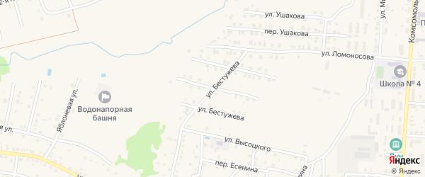 Улица Бестужева на карте Унечи с номерами домов