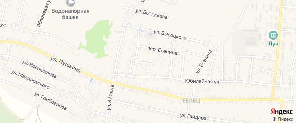 7-й Юбилейный переулок на карте Унечи с номерами домов