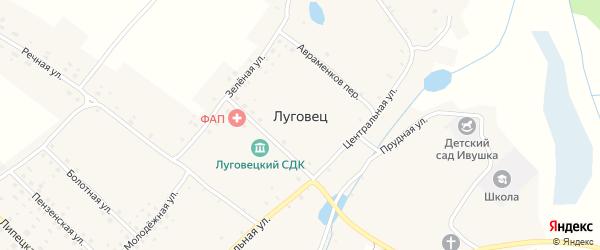 Полевая улица на карте села Луговца с номерами домов