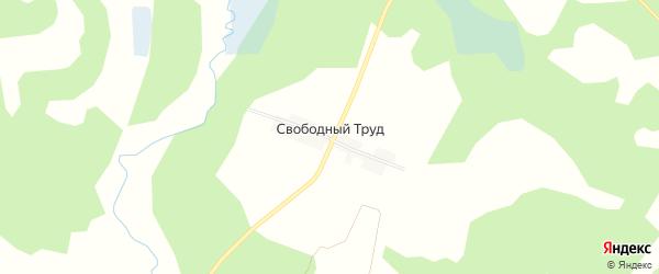 Карта поселка Свободного Труда в Брянской области с улицами и номерами домов