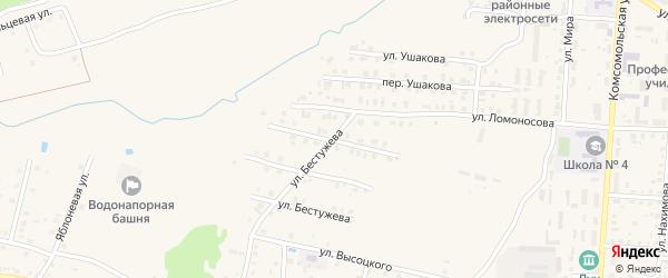 Улица Гоголя на карте Унечи с номерами домов