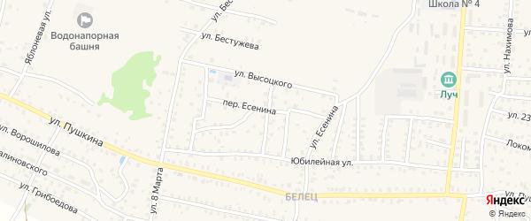 Переулок Есенина на карте Унечи с номерами домов