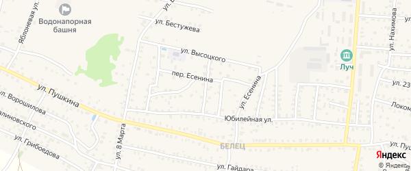 5-й Юбилейный переулок на карте Унечи с номерами домов